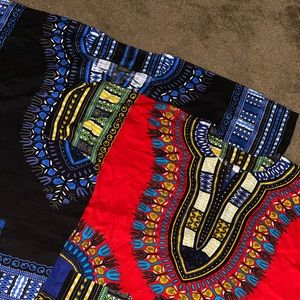 Black & Red Dashiki